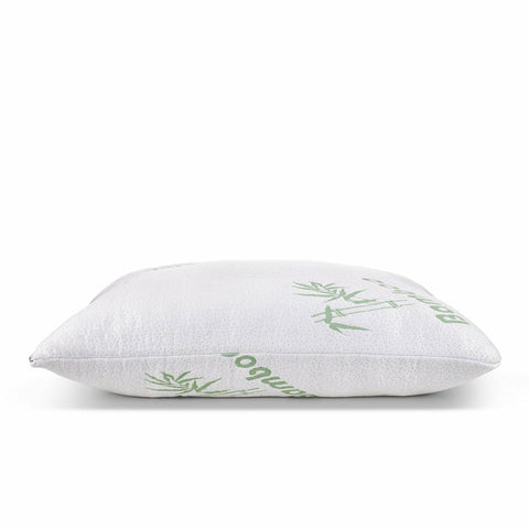 LAGGRA Bamboo Shredded Memory Foam Pillow with Hypoallergenic Cover 2 Pack Queen - Rewardeals