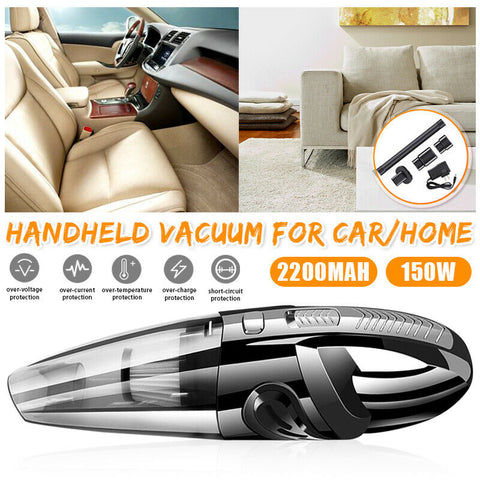 Cordless Mini Portable Car Auto Home Wireless Hand Held Vacuum Cleaner