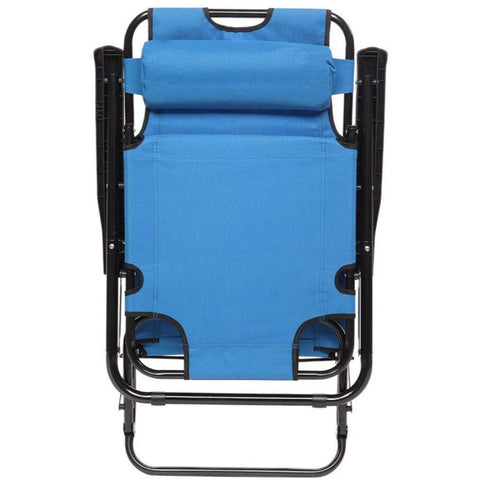 Folding Chaise Patio Outdoor Pool Beach Lawn Recliner Lounge Chair - Rewardeals