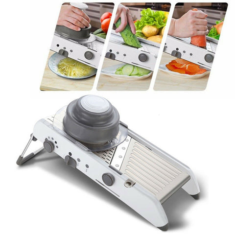 18 in 1 Multi-function Stainless Steel Mandoline Kitchen Vegetable Cutter Food Slicer - Rewardeals