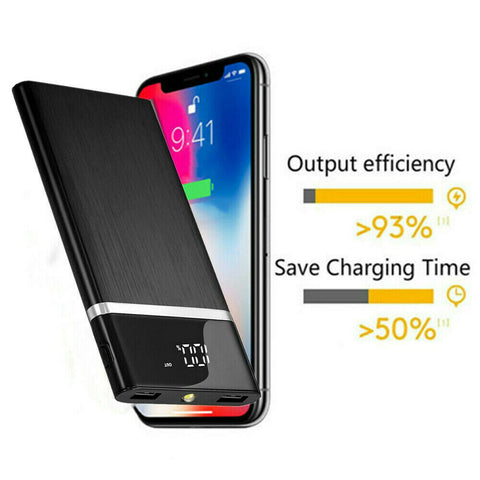 Latest Portable External Battery Huge Capacity Power Bank 900000mAh Charger - Rewardeals