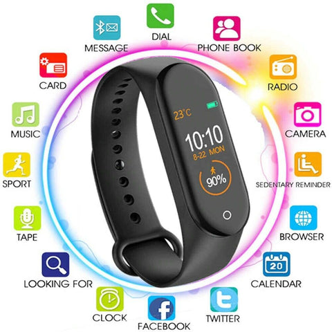 Upgraded Heart Rate Blood Pressure Monitor Tracker Fitness Smart Watch Band M1499