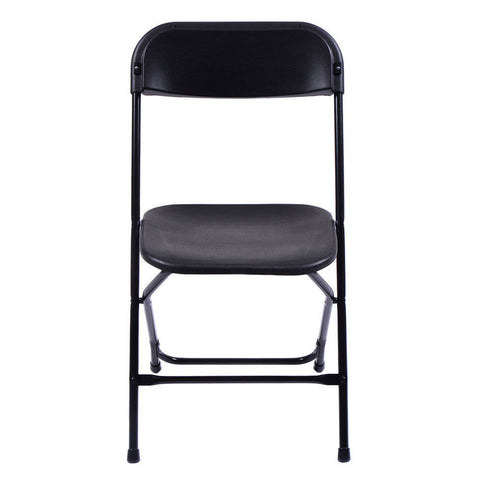 10 Premium Party Event Wedding Banquet Seat Black Folding Chairs - Rewardeals