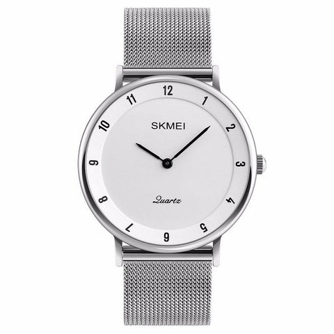 Men's Luxury Ultra Quartz Analog Minimalist Slim Mesh Stainless Steel Wrist Watch - Rewardeals