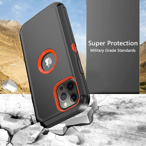 For iPhone 12 Pro 12 Mini 12 Pro Max Shockproof Defender Case Cover with Belt Clip
