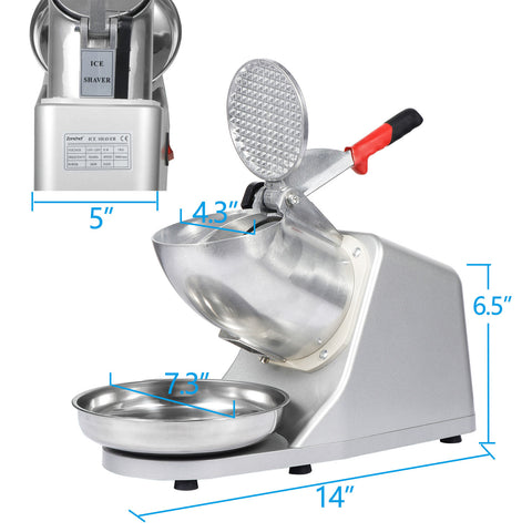Electric 143 lbs Shaved Ice Crusher Shaver Machine Snow Cone Maker