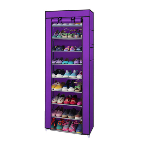10 Tier Shoe Rack Saving Storage Closet Organizer Cabinet 9 Shelf - Rewardeals