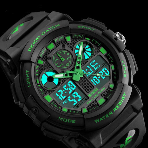 Men's Military Digital and Analog Date Alarm Waterproof Workout Sports Watch
