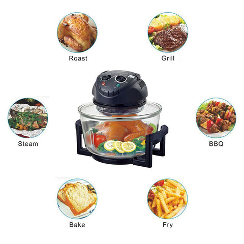 12 Quart 1200W Halogen Convection Countertop Wave Oven Baker Air Fryer - Rewardeals