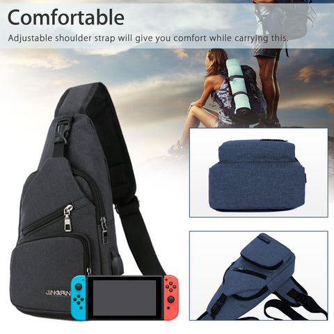Backpack Travel Bag Protective Carrying Case USB Charging for Nintendo Switch