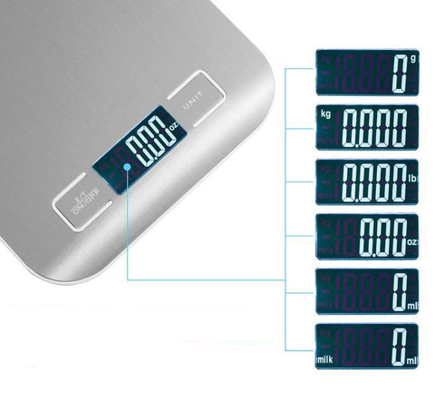 11lbs Compact Digital Food Kitchen Post Scale with LCD Display - Rewardeals