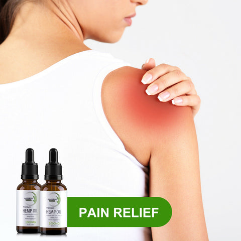 2 Pack FDA Approved Organic Premium Extract Pain Stress Relief Hemp Oil (1000mg) - Rewardeals