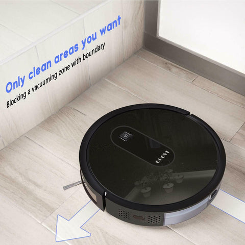 HiTech New 1600 KPA Smart Self Charging Auto Sweeping Robotic Vacuum Cleaner