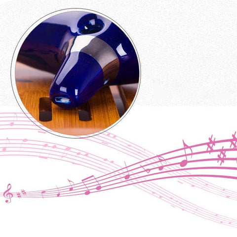 12 Hole Ocarina of Time Ceramic Alto C Flute Legend of Zelda Blue Instrument