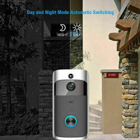 Wireless Smart WiFi IR Video Visual Camera Intercom Door Bell Home Security Kit - Rewardeals