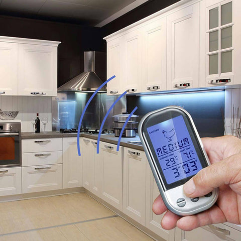 Wireless Remote Digital Cooking Food Meat Thermometer with Probe - Rewardeals