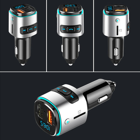 LAGGRA Bluetooth Car FM Transmitter MP3 Player Radio Adapter Kit USB Charger