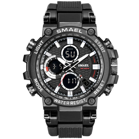 Men's Sports Waterproof Digital Calendar Alarm Quartz Wrist Watch MW923 - Rewardeals