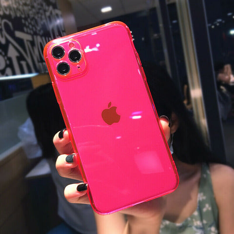 Case for iPhone 12 11 7 8 SE Plus XR XS Max Mini Cover Shockproof Silicone Cover