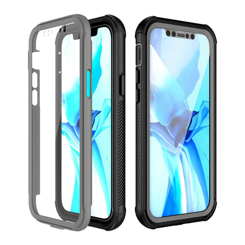For iPhone 1212 Mini 12 Pro Max Clear Full Body With Screen Protector Case Cover
