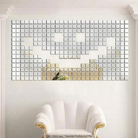 3D Wall Mirror Décor (100Pcs) - Rewardeals