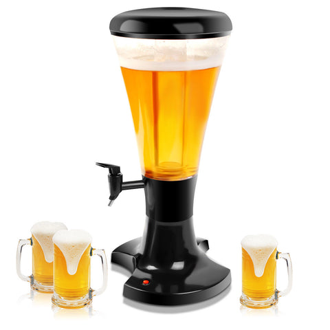 Portable Cold Draft Beer Tower with LED Light - Rewardeals