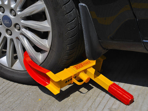 Heavy Duty Anti-theft Boot Tire Lock Clamp Fits Most Vehicles Cars Trucks Motorcycles - Rewardeals