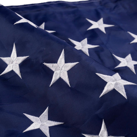 American Embroidered Flag with Sewn Stripes Stars - Rewardeals