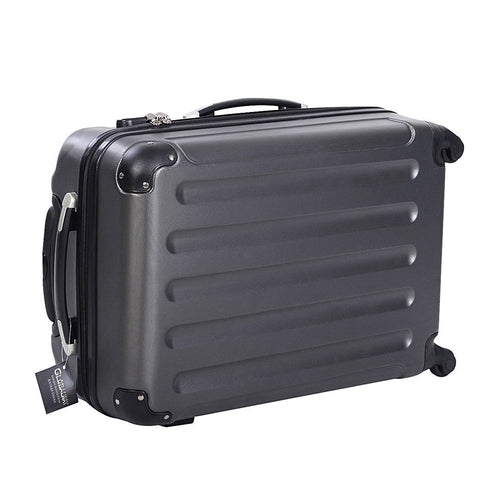 3 Pcs Durable ABS Trolley Suitcase with Zippered Pockets - Rewardeals