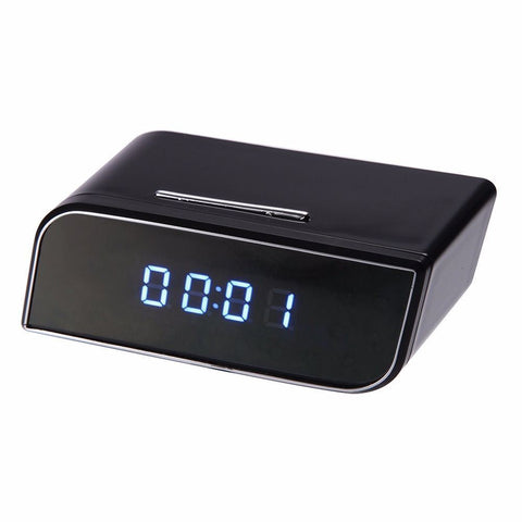 Digital Alarm Clock with HD 720P Wifi IP Motion Security Hidden Spy Camera - Rewardeals