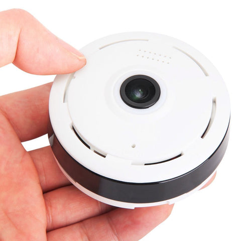 360 Degree 1080P Full HD WiFi Fisheye Panoramic IP Camera with Two Way Audio - Rewardeals