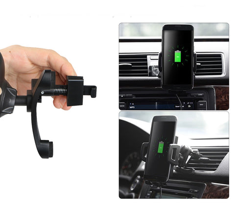 Universal Wireless Fast Car Charger Air Vent Mount for Smartphone - Rewardeals