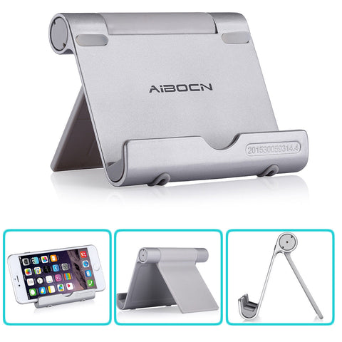 LAGGRA Durable Aluminum Multi-Angle Smartphone Stand for iPhone Samsung - Rewardeals