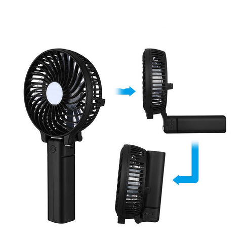 LAGGRA Cooling Fan with 3 Speed Mode and Rechargeable 18650 Battery - Rewardeals