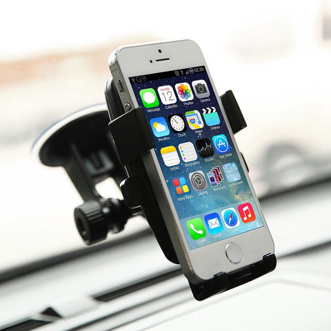 Heavy Duty Portable 360 Rotating Windshield Car Mount Holder for Cell Phone - Rewardeals