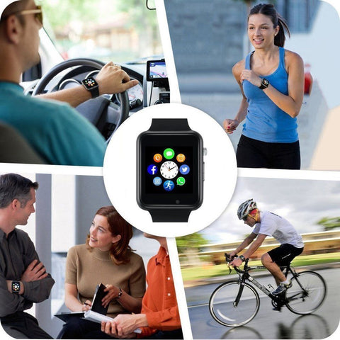 Bluetooth Waterproof GSM SIM Phone Camera Smart Watch for Smartphone - Rewardeals