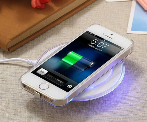 Wireless Fast Charger Dock Charging Pad & Receiver for Apple iPhone 5/6/7/Plus - Rewardeals