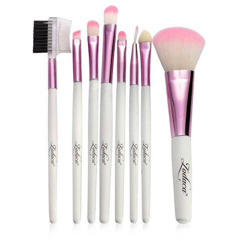 LAGGRA Professional Quality Makeup Brushes with Pouch Bag (Set of 8 Brush) - Rewardeals