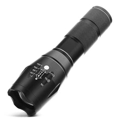 10000 Lumen Bright LED Zoomable Waterproof Flashlight With 5 Lighting Modes