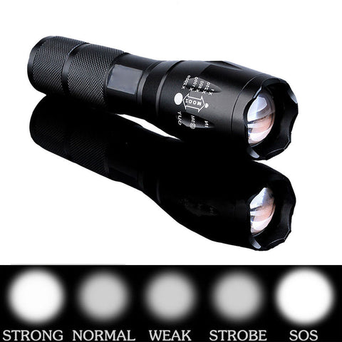 10000 Lumen Bright LED Zoomable Waterproof Flashlight With 5 Lighting Modes - Rewardeals