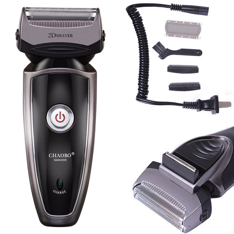 Men's Electric Rechargeable Double Edge Cordless Grooming Shaver Trimmer - Rewardeals