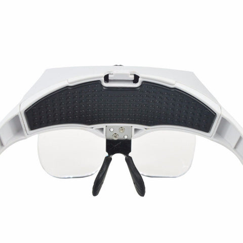 Portable Magnifying Glass Lens LED Light Jeweler 5X Magnifier Headband - Rewardeals