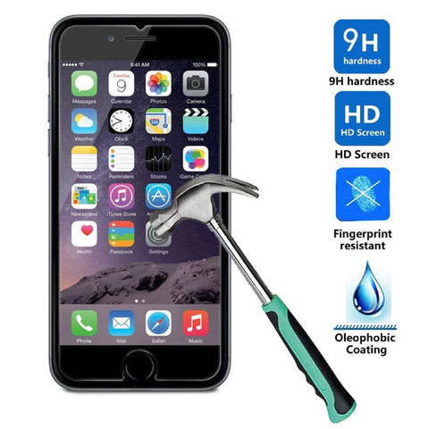 2 Pcs Tempered Glass Screen Protector Guard for Apple iPhone 6 6S iPhone 6S Plus - Rewardeals