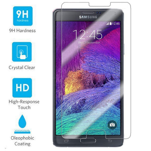 Fingerprint Resistant Tempered Glass Screen Protector for Samsung Galaxy Note 4 - Rewardeals