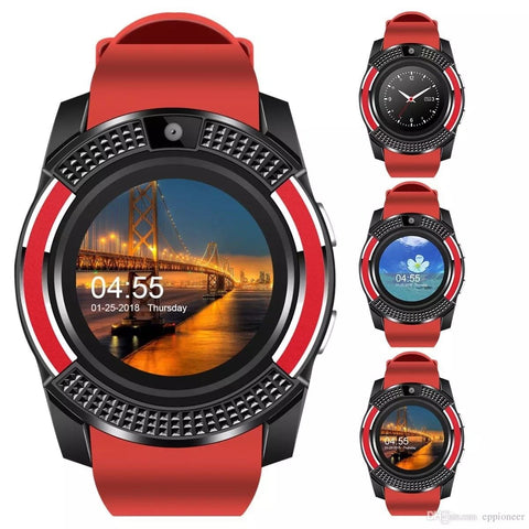 Bluetooth Smart Watch with Camera Texting Calls for Smartphone - Rewardeals