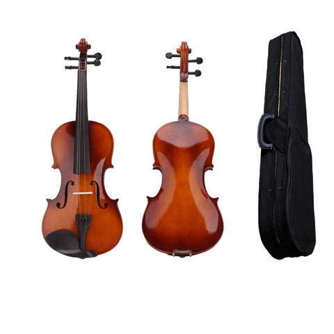 4/4 Full Size Acoustic Violin with Case and Bow Green Rosin Wood - Rewardeals