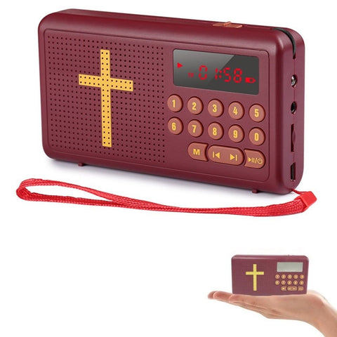 Rechargeable Audio Player Electronic Bible Talking King James - Rewardeals
