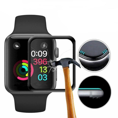2 Packs 3D Tempered Glass Screen Protector for Apple Sport Watch 40-44mm - Rewardeals