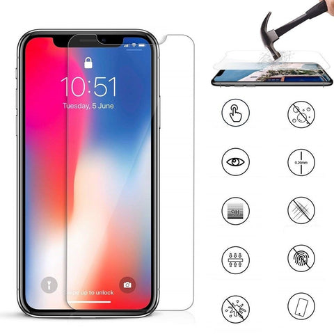 2 Pack Premium Ultra-Thin Tempered Glass Screen Protector for iPhone X XS MAX XR - Rewardeals