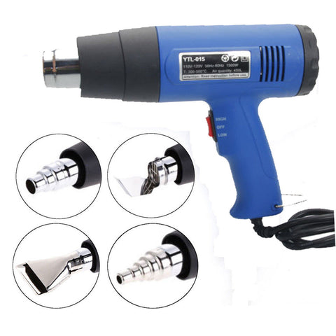 1500W 110V Dual Temperature Hot Air Heat Gun with 4 Nozzle - Rewardeals